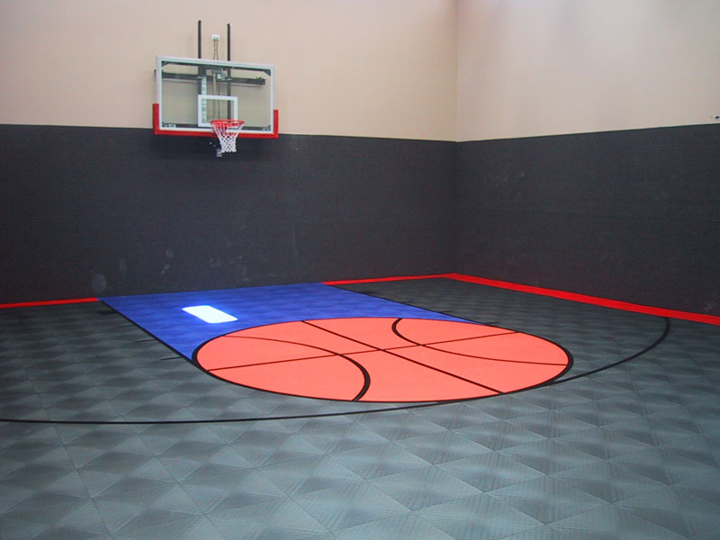 Residential gallery snapsports of utah blog for Indoor basketball court installation