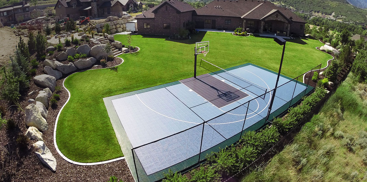 Backyard courts gym flooring snapsports of utah for Backyard sport court